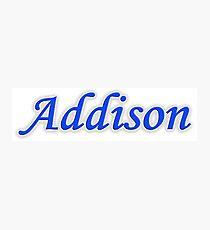 Addison Photographic Print