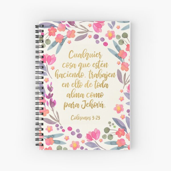 Colosenses 3:23 Spiral Notebook