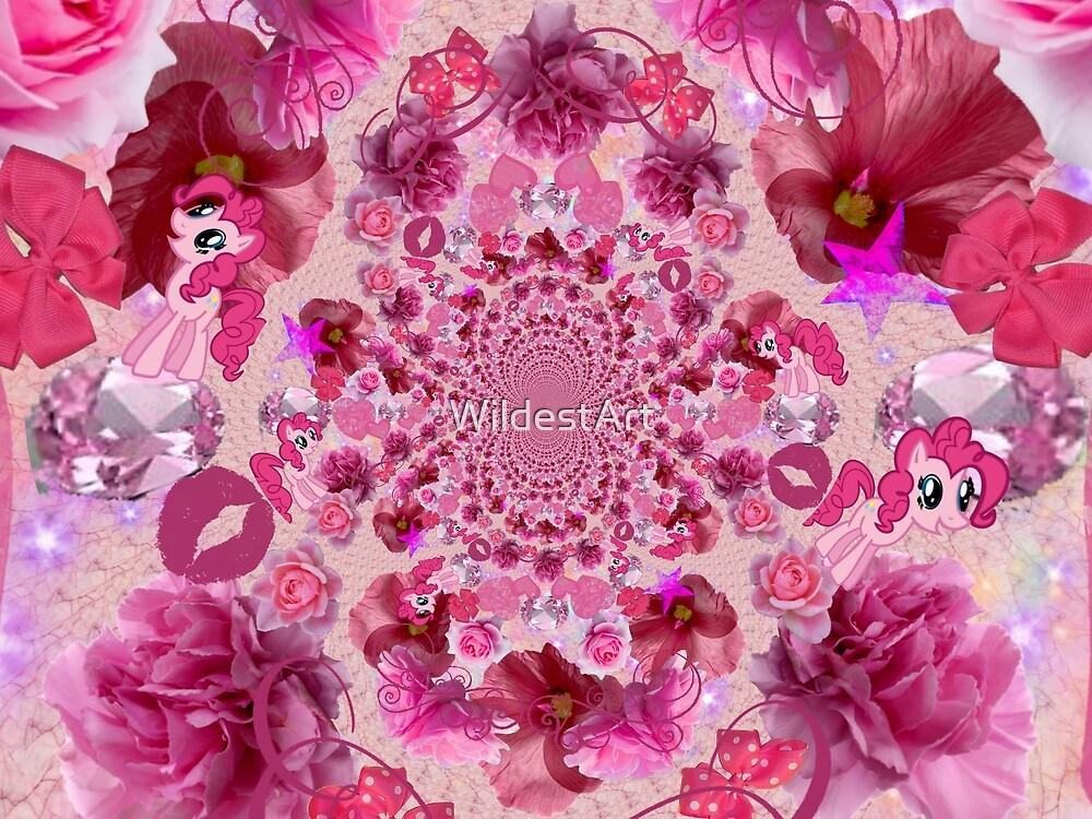 Pink Things Fractal by WildestArt
