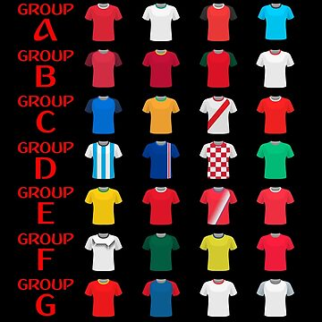 Russia 2018 world cup groups by ideasfinder