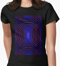 Psychedelic fedval Women's Fitted T-Shirt