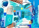 Abstract Interior #49  by Lisa V Robinson