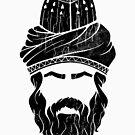 Rumi - Graphic Silhouette Head (black) by MunirZamir