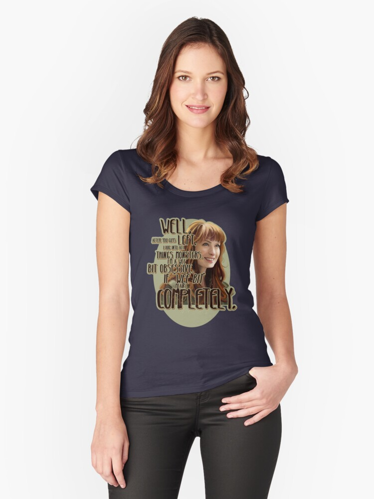 Obsessed Women's Fitted Scoop T-Shirt Front