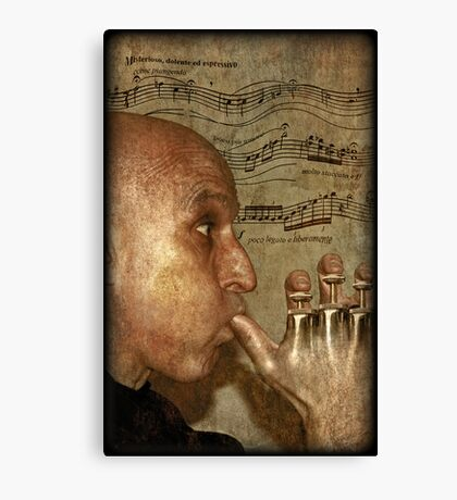 Blowing my own trumpet Canvas Print