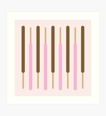 Japanese Chocolate Biscuit Sticks Art Print