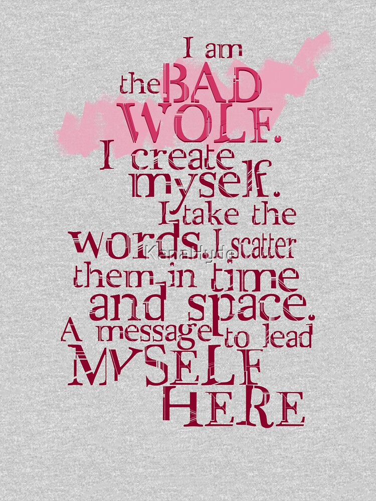 TShirtGifter presents: I am the BAD WOLF | Unisex T-Shirt