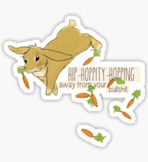 hip-hoppity-hopping (cream) Sticker