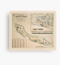 Map Of Curacao 1836 Metal Print