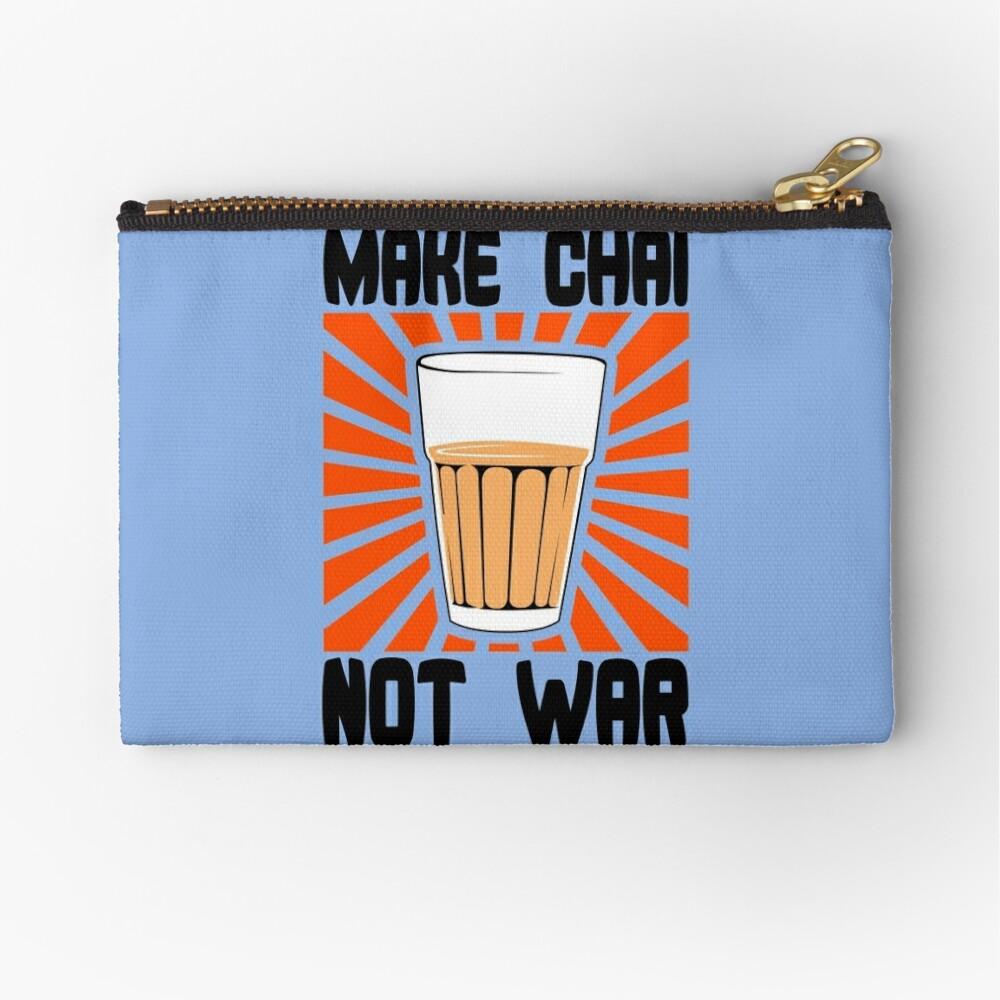 Make Chai Not War Funny Geek Nerd Zipper Pouch