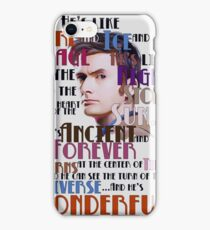 wonderful doctor iPhone Case/Skin