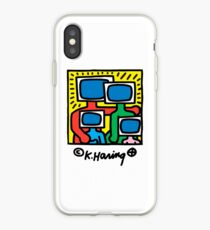 KEITH HARING - TV FAMILY POP ART iPhone Case