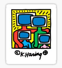 KEITH HARING - TV FAMILY POP ART Sticker