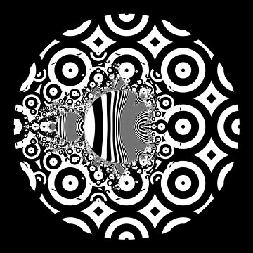 Monochrome Mandelbrot 001 by rupertrussell