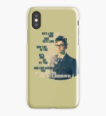 David Tennant - He's wonderful iPhone Case