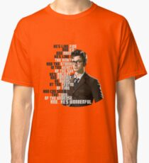 David Tennant - He's wonderful Classic T-Shirt