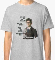 David Tennant - He's wonderful Classic T-Shirt