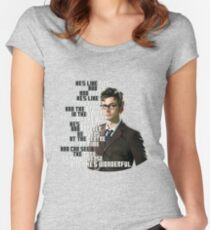 David Tennant - He's wonderful Women's Fitted Scoop T-Shirt
