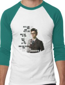 David Tennant - He's wonderful Men's Baseball ¾ T-Shirt