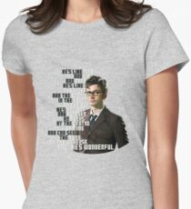 David Tennant - He's wonderful Women's Fitted T-Shirt
