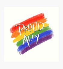 Stolzer LGBT-Verbündeter Kunstdruck
