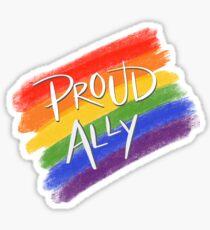 Proud LGBT Ally Sticker