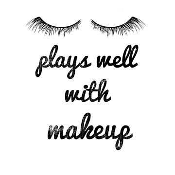 "Trending Makeup Artist ""Plays Well With Makeup"" Eyelashes  by DSweethearts"