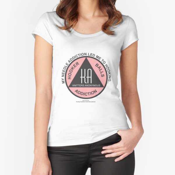 Official Knitters Anonymous: Needle Fitted Scoop T-Shirt