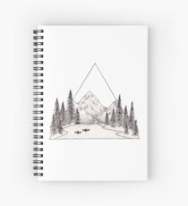 Kayaking Through Wilderness Spiral Notebook