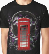 Print Phone Boxes Music in London Graphic T-Shirt