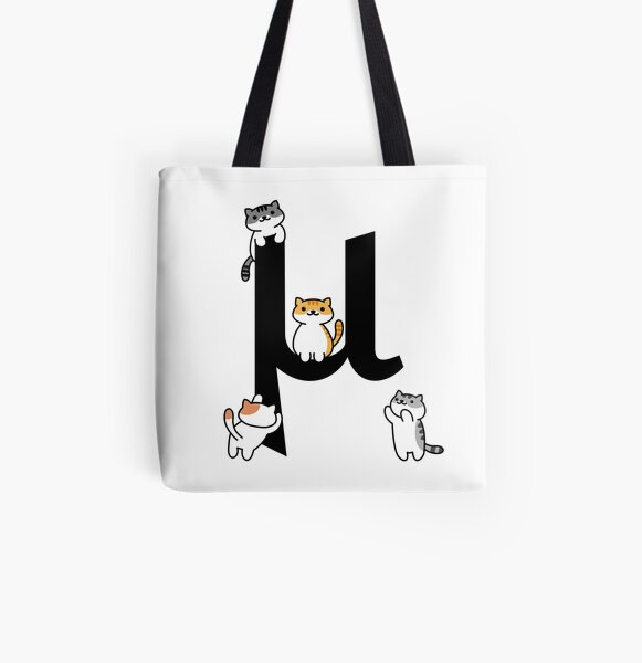 Mu Cats All Over Print Tote Bag