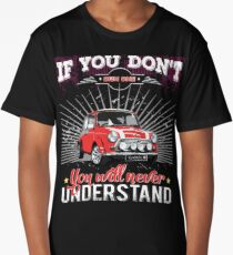 Red Classic Mini - Vintage Classic Car Shirt & Gifts Long T-Shirt
