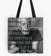 Works of Anthony Bourdain Tote Bag