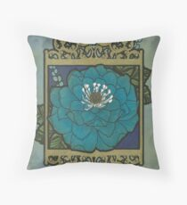 Coloring card - Blue Star North Throw Pillow