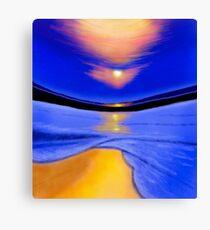 Warped Sunset Canvas Print