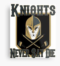 LV Golden Knights Never Die 2 Metal Print