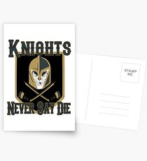LV Golden Knights Never Die 2 Postcards