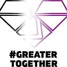 Asexual Pride - #GreaterTogether 2018 PRIDE by GTGamesLLC