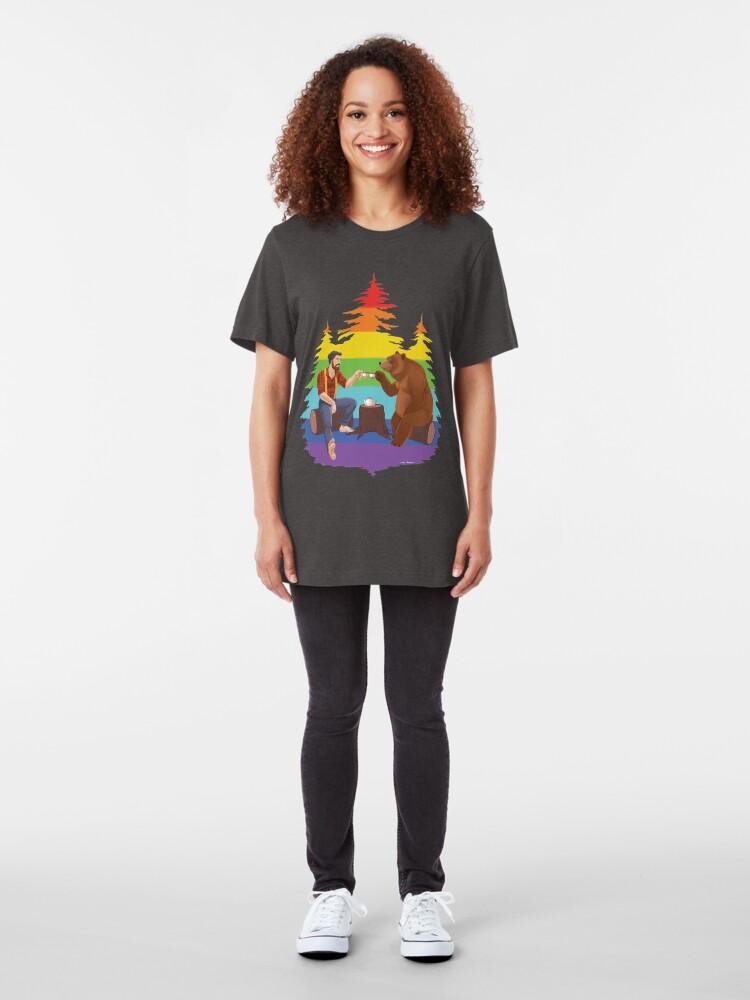 Alternate view of Gentleman's Tea - Pride Edition Slim Fit T-Shirt