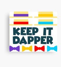 Keep It Dapper Canvas Print