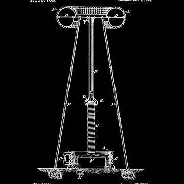 Tesla Coil Patent White by Vesaints