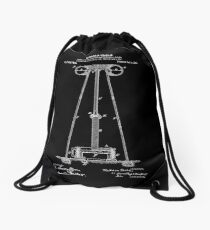 Tesla Coil Patent White Drawstring Bag