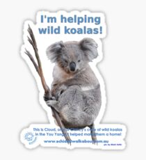 I'm helping wild koalas - Cloud Sticker