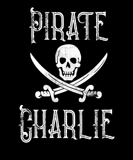 Personalized Pirate Shirt Vintage Pirates Shirt Personal Name Pirate TShirt Charlie by FairOaksDesigns