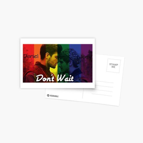 "Joey Graceffa and Daniel Preda ""Don't Wait"" Postcard"