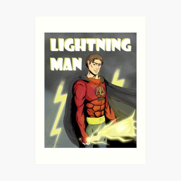 Lightning Man Art Print