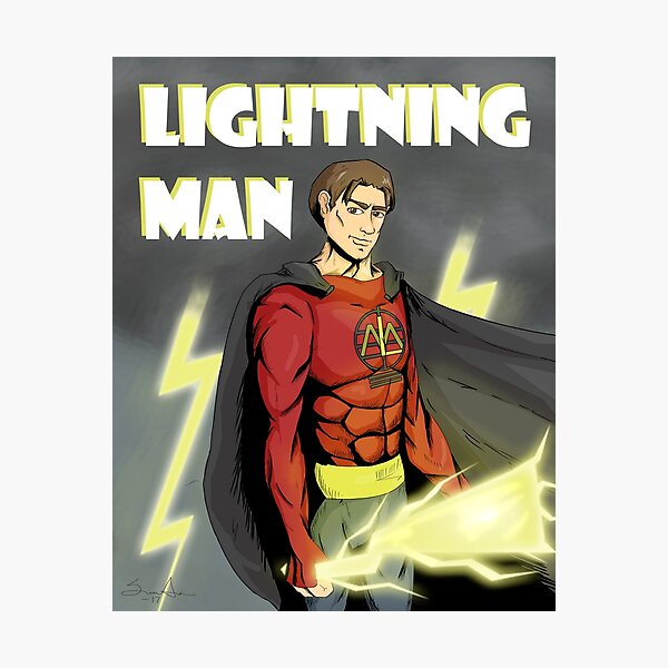 Lightning Man Photographic Print
