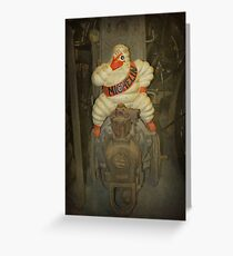 Vintage Michelin Man Greeting Card