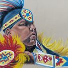 PowWow dancer  -- Pastel by Linda Sparks