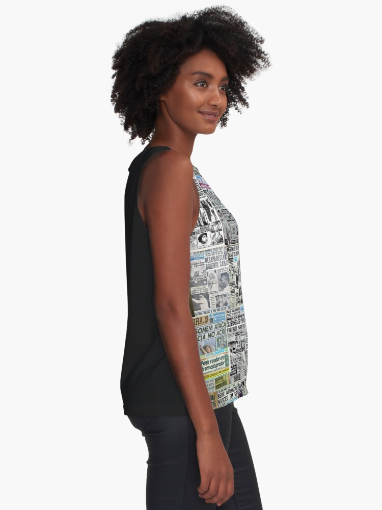 Alternate view of Newspaper Pattern  Sleeveless Top